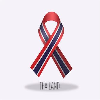Projeto da fita da bandeira de Tailândia