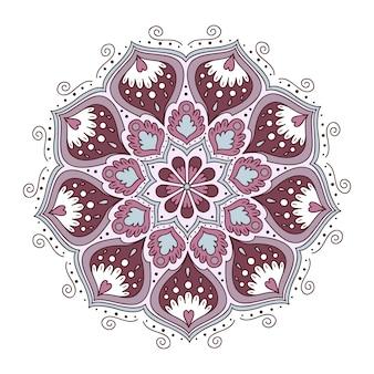 Projeto da mandala colorida