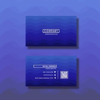 Projeto de cartão azul