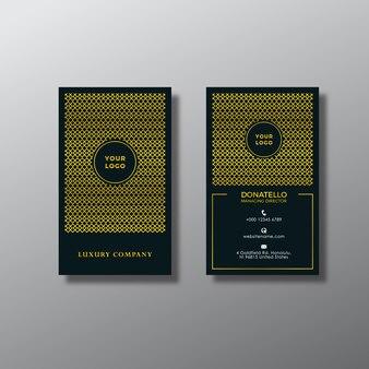 Projeto de cartão vertical verde