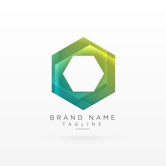 Projeto de conceito de logotipo hexagonal abstrato