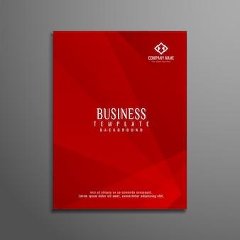 Projeto de folheto de negócios geométrico vermelho moderno abstrato