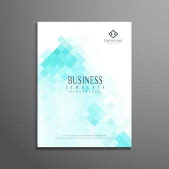Projeto de folheto de negócios moderno e abstrato