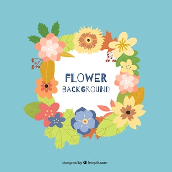 Projeto de fundo florido