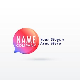 Projeto de vetor de conceito de logotipo de bate-papo