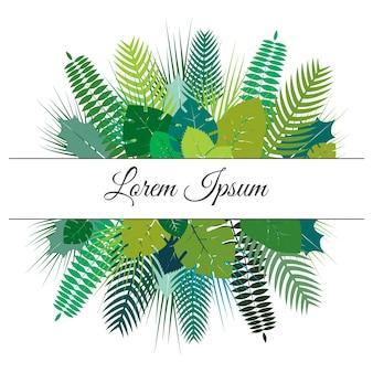 Projeto de vetor de folhas tropicais de verão na moda