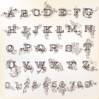 Projeto do alfabeto decorativa