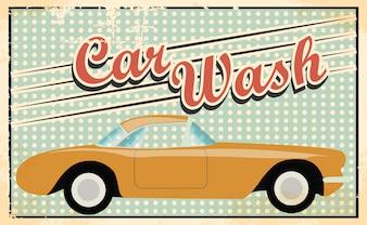 Projeto do carro do vintage