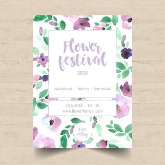 Projeto do cartaz do festival da flor