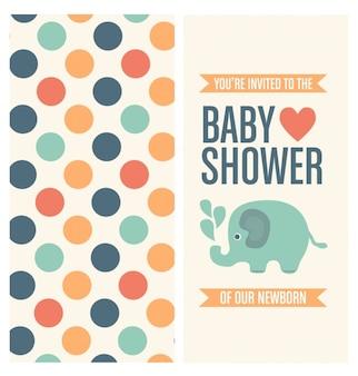 Projeto do convite do chuveiro de bebê