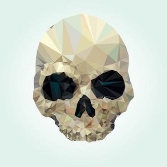 Projeto do crânio feito de polígonos