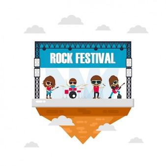 Projeto do festival de música de fundo