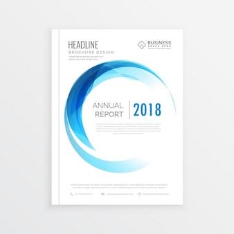 Projeto do folheto comercial mínimo anual relatório abrangem em tamanho A4 com moldura círculo