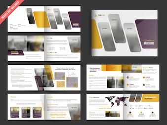 Projeto do folheto empresa