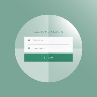 Projeto do formulário de login ui Modern