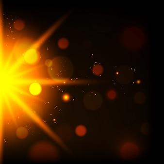 Projeto do fundo da luz amarela