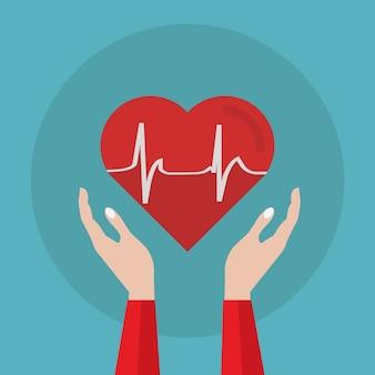 Projeto do fundo do electrocardiograma