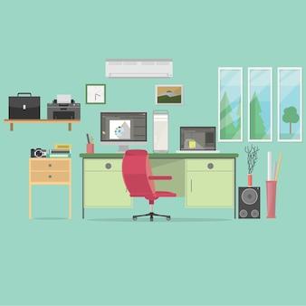 Projeto do fundo do escritório