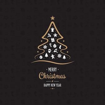 Projeto do fundo do Natal