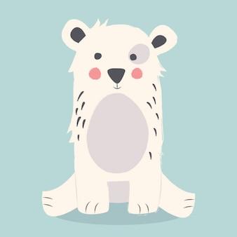 Projeto do fundo do urso polar