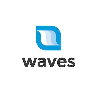 Projeto do logotipo das ondas azuis