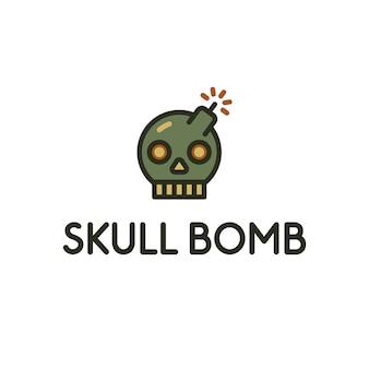 Projeto do logotipo do crânio