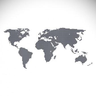 Projeto do mapa de mundo