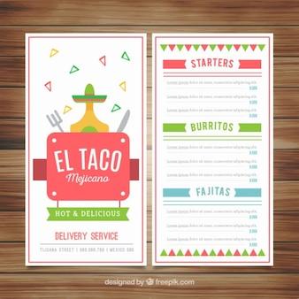 Projeto engraçado do menu de mexicano