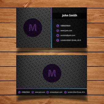 Projeto escuro cartão de empresa