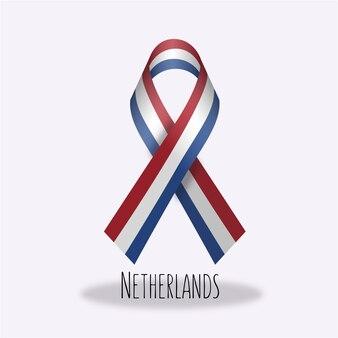 Projeto holandês da fita da bandeira