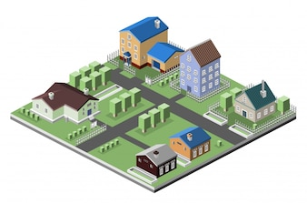 Projeto isométrico aldeia