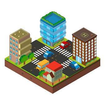Projeto isométrico da cidade