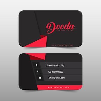 Projeto moderno do cartão de visita