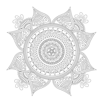 Projeto preto e branco da mandala