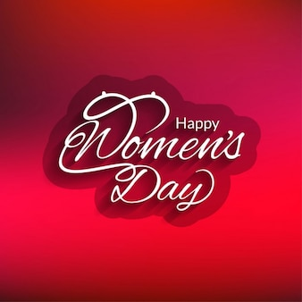 Projeto vermelho do cartão do dia das mulheres felizes