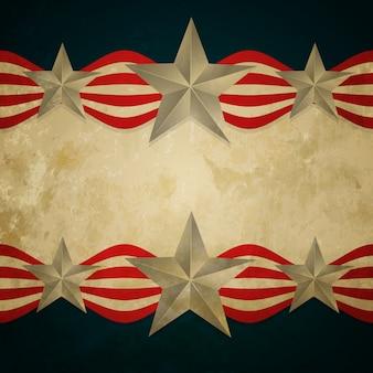 Projeto vintage da bandeira americana do estilo do vintage