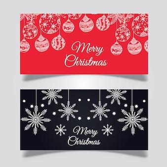 Projetos criativos de banners de natal
