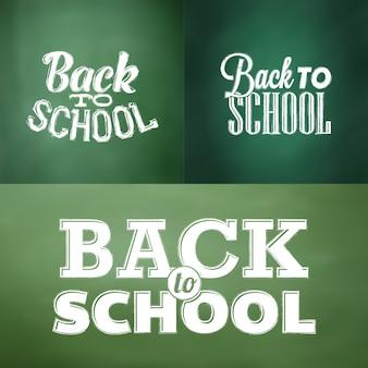 Projetos tipográficos de volta para a escola em estilo de giz