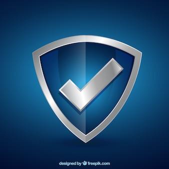 Protetor com marca de verificação