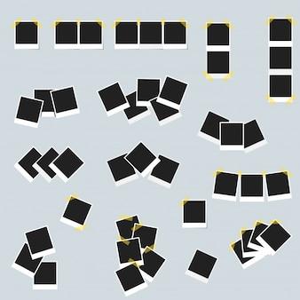 Quadrado quadrado da coleção da imagem da fita