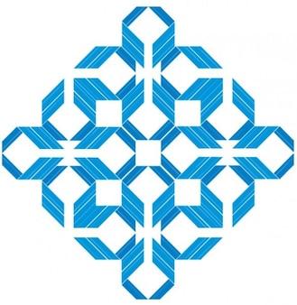 Quadrados azuis diamante Vector Pack