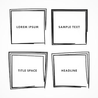 Quadrados do Doodle ajustados vector
