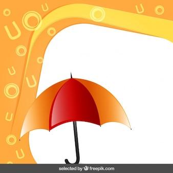 Quadro com guarda-chuva