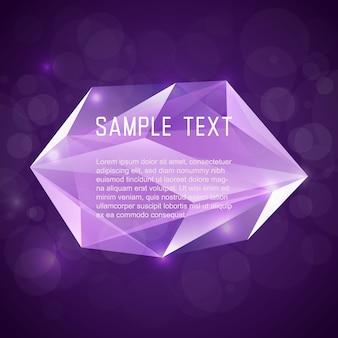 Quadro de cristal abstrato para o projeto