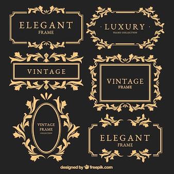Quadros de ouro do vintage ajustados