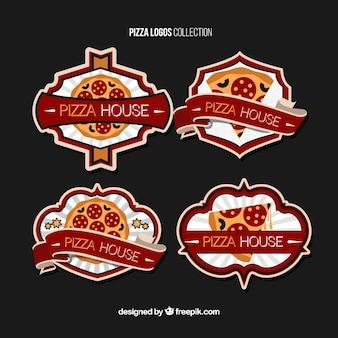 Quatro logotipos para a pizza
