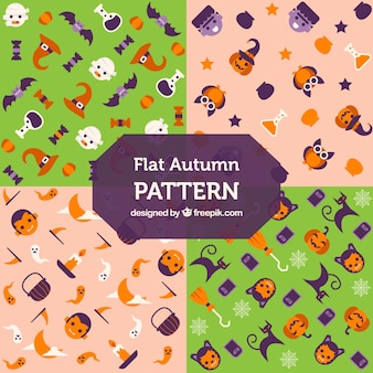 Quatro padrões de Halloween