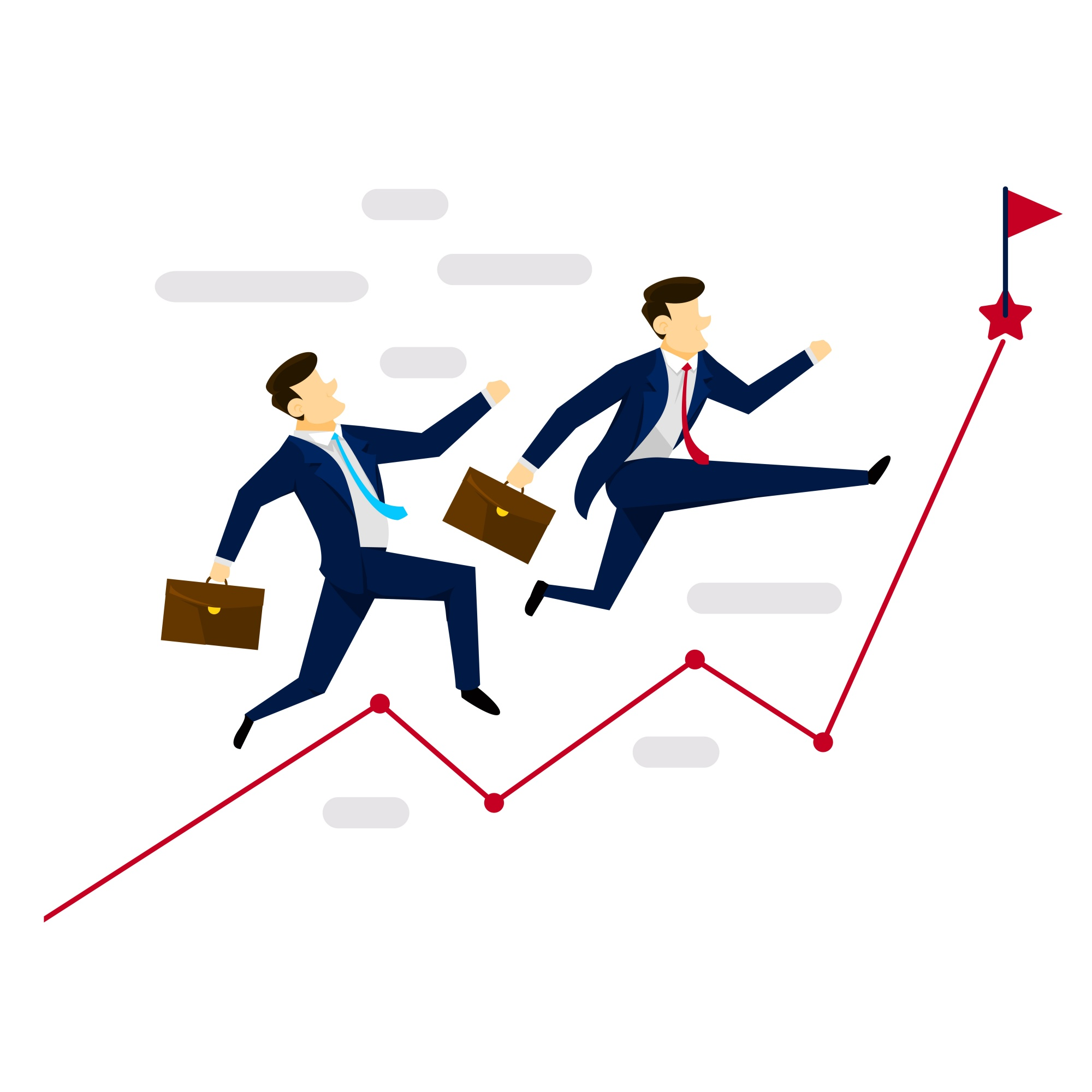"""Chasing Goal Business Illustration"""