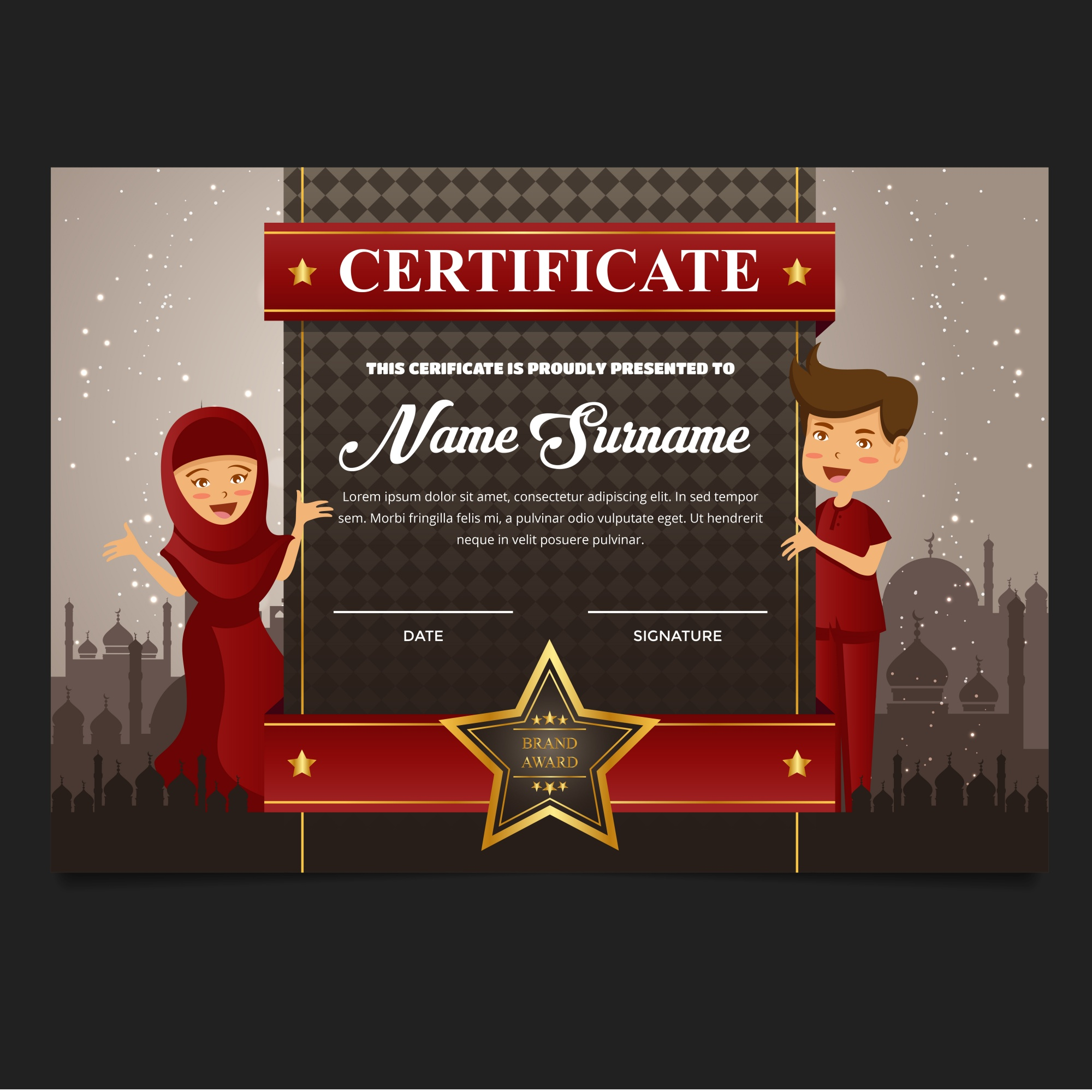"""Cute Islamic Education Certificate"""
