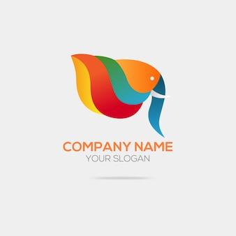 """""""Logotipo abstrato do elefante"""""""